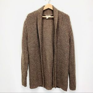 J. CREW Chunky Knit Open Front Cardigan Sweater M